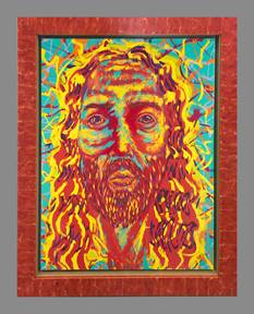 Electric Jesus Art by Jim Carey at Ocean Blue Galleries