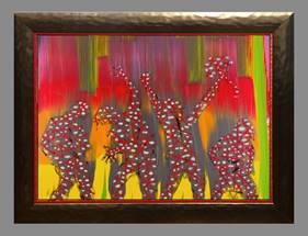 Jim Carrey Painting Hooray We Are All Broken Ocean Blue Galleries
