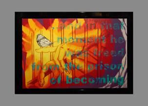 Jim Carrey Artwork Prison of Becoming Ocean Blue Galleries