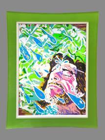 Jim Carrey Sunshower artwork painting Ocean Blue Galleries