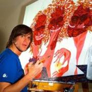 Jim Carrey paintings for sale at Ocean Blue Galleires St. Petersburg