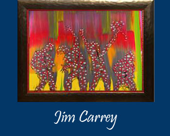 Jim Carrey Art at Ocean Blue Galleries Winter Park - Art Gallery Orlando Area