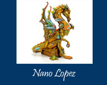 Nano Lopez Art at Ocean Blue Galleries Winter Park - Art Gallery Orlando Area