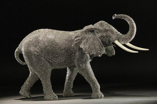 Elephant Sculpture by Clarita Brinkerhoff
