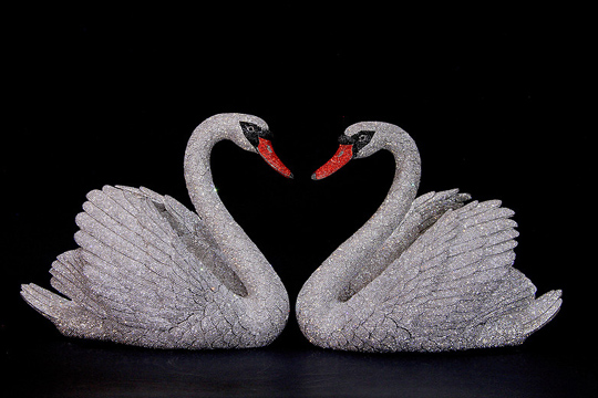 Swans by Carlita Brinkerhoff Art Sculpture at Oceanblue Galleries