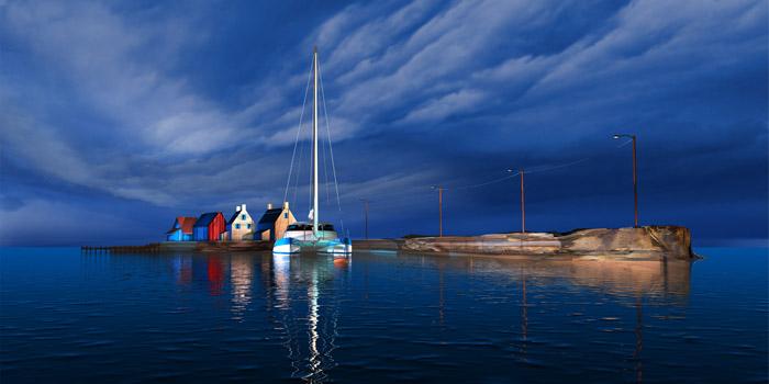 "Steve Harlan ""Short Walk Home"" at Ocean Blue Galleries"