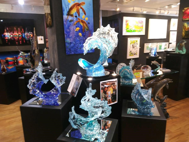 David Wight at Art Gallery Ocean Blue Galleries Winter Park