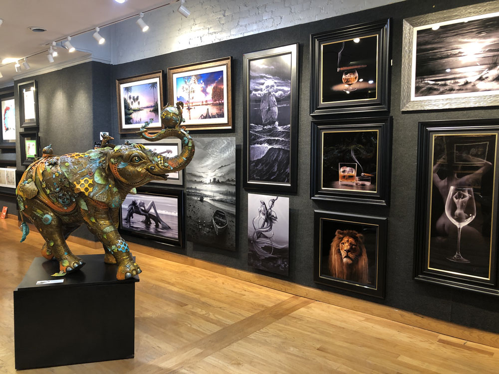 Ocean Blue Galleries Winter Park Art Gallery - Featuring Nano Lopez Life Size Bobby and Stephen Muldoon